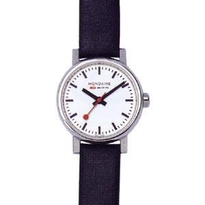 モンディーン エヴォ 3気圧防水 レディース アナログ 腕時計 3針 クォーツ ホワイト 白(A658.30301.11SBB)ブラック 黒 本革 レザー 革バンド ドレスウォッチ|mdcgift