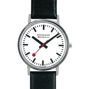 モンディーン 日常生活 3気圧防水 メンズ アナログ 腕時計 ホワイト 白 3針 クォーツ(A658.30323.11SBB)ブラック 黒 本革 レザー 革バンド ドレスウォッチ|mdcgift