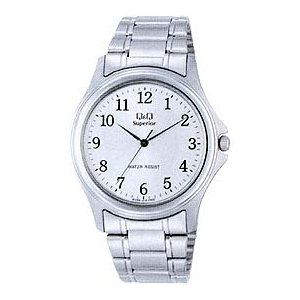 シチズン メンズ アナログ 腕時計 アラビア数字 3針 クォーツ フリーアジャストバンド(CBQ029SLV)Q&Q  CITIZEN MENS ANALOG カジュアル ウォッチ 時計 mdcgift