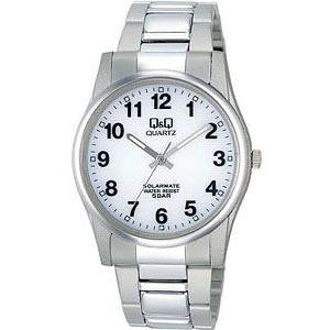 シチズン スポーツウォッチ 5気圧防水 メンズ ソーラー アナログ 腕時計(CBQ043WHT)アラビア数字 3針 ステンレスバンド マラソン ランニングウォッチ 時計 mdcgift