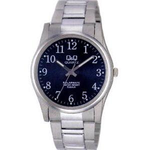 シチズン スポーツウォッチ 5気圧防水 メンズ ソーラー アナログ 腕時計(CBQ045BLU)アラビア数字 3針 ステンレスバンド マラソン ランニングウォッチ 時計 mdcgift
