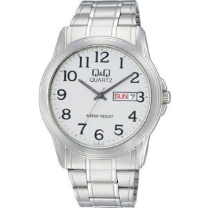 シチズン 3気圧防水 メンズ アナログ 腕時計 シルバー 銀 メタル ステンレスバンド(CBQ17C-004)アラビア数字 日付 曜日 カレンダー ドレスウォッチ 時計 mdcgift