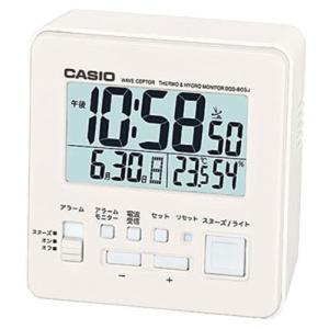カシオ 電波時計 コンパクト 置時計 デジタル 目覚まし時計 大型液晶 (CL15JL06) 温度 湿度計 LED ライト付き CASIO 小型 旅行用 目覚まし時計 トラベルクロック