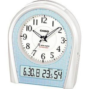 カシオ 電波時計 置時計 デジタル アナログ 目覚まし時計 アラビア数字(CL15JU10)アラーム 温度 湿度計 日付 曜日 カレンダー LED ライト付き 卓上 電波時計