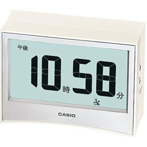 カシオ 電波時計 置時計 デジタル 目覚まし時計 ホワイト 白(CL15JU15WHT)温度 湿度計 アラーム スヌーズ LEDライト付き 大型液晶 CASIO 卓上 電波 置き時計 mdcgift