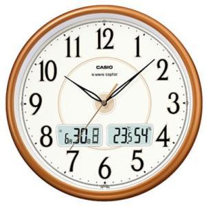 カシオ 電波時計 壁掛け時計 デジタル アナログ 掛け時計 アラビア数字(CL15JU50) 日付・曜日 カレンダー 温度 湿度計付き CASIO 大型液晶 電波掛け時計 mdcgift