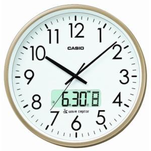 カシオ 電波時計 壁掛け時計 デジタル アナログ 掛け時計 日付・曜日 カレンダー(CL15JU52GLD)デュアルタイム プログラム時報付き mdcgift