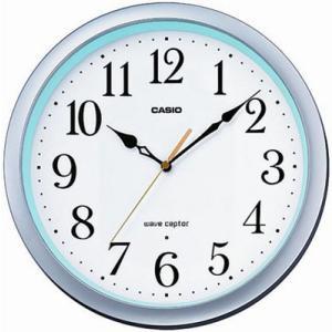 カシオ 電波時計 壁掛け時計 アナログ 掛け時計 おしゃれな ホワイト 白(CL15JU59) 見やすい アラビア数字 秒針 音がしない CASIO 電波掛時計 ウォールクロック