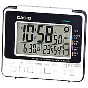カシオ 電波時計 置時計 デジタル 目覚まし時計 カレンダー  アラーム スヌーズ(CL16SP01) 温度 湿度計 LEDライト付き 大型液晶 CASIO 卓上 電波 置き時計 mdcgift