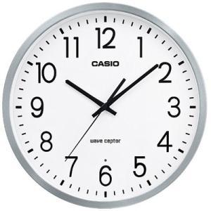 カシオ 電波時計 壁掛け時計 アナログ 掛け時計 ホワイト 白 文字板(CL17SP01SLWH) アラビア数字 秒針停止機能 CASIO 電波 掛時計 大型サイズ mdcgift