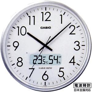 壁掛け時計 カシオ 電波時計 壁掛け 時計 デジタル アナログ 温度 湿度計搭載 CASIO 大型液晶 電波時計 掛け時計(CL6SP02) mdcgift