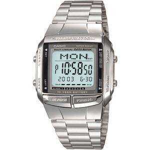 カシオ データバンク スポーツウォッチ メンズ デジタル 腕時計(DB14OC02MTL)ストップウォッチ LEDライト付き DATABANK マラソン ランニング ウォッチ 時計