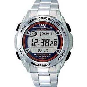 シチズンQ&Q スポーツウォッチ 10気圧防水 電波ソーラー腕時計 メンズ デジタル 腕時計(MHBQ12-001MTL)ストップウォッチ LEDライト ランニングウォッチ mdcgift