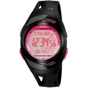ランニングウォッチ カシオ スポーツウォッチ 5気圧防水 デジタル 腕時計(PH10DC02BKPK)走行距離計測 60ラップ CASIO マラソン ランニング ウォッチ 時計