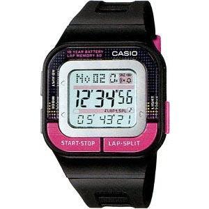 ランニングウォッチ CASIO カシオ スポーツウォッチ ランニング 5気圧防水 レディース デジタル 腕時計(SD11FBP-202BKPK海外版)マラソン ランナーズ ウォッチ