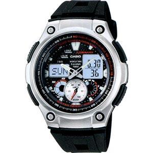 ランニングウォッチ CASIO カシオ スポーツウォッチ 10気圧防水 デジタル アナログ 腕時計(AQ10P-7102) 速度計測機能 LEDライト付き マラソン ランニング 時計