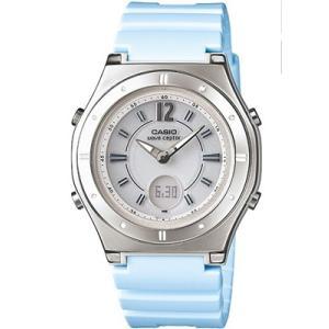 カシオ 電波時計 スポーツウォッチ レディース デジタル アナログ ソーラー電波 腕時計(WV10OC07BLU)電波ソーラー 1/100秒ストップウォッチ LEDライト付き