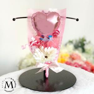 キャンディブーケ 手持ちブーケミニ ハートバルーン ピンク キャンディーブーケ