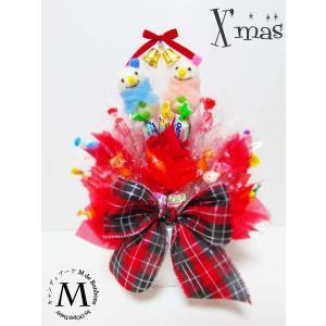 キャンディブーケ クリスマス 雪ダルマ キャンディーブーケ