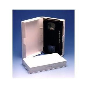 VHSビデオテープ用ケース【白・20枚】