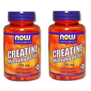 2本セット 海外直送品 Now Foods Creatine Monohydrate, 120 Ca...