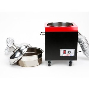 KALDI社のロースターと互換焙煎機に連結し強制に排気を行うことで、対流熱を拡張すると同時に、チャフ...