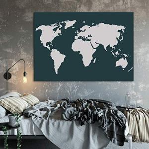 再利用可能で丈夫な10ミルのマイラーステンシル。世界地図のステンシルは洗濯可能で使いやすい。食品グレ...