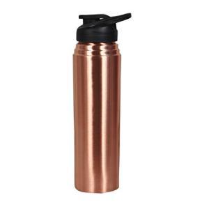 Otiem 100 純銅ウォーターボトル アーユルヴェーダ 1リットル 漏れ防止 ラージ スタイリッ...