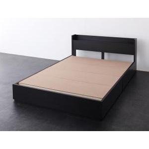 棚 コンセント付き収納 ベッド   セミダブル|mdmoko