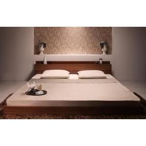 ベッド ベット クイーンサイズ 棚 コンセント付き  マット mdmoko