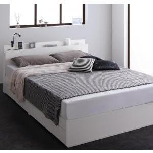 ベッド 収納 コンセント付き  マットレス付き セミダブル|mdmoko