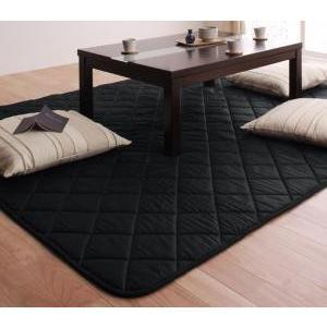 「黒」日本製ウレタン入りこたつ敷布団4尺長方形サイズ|mdmoko