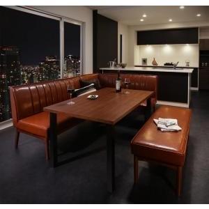 ダイニングテーブル 4点セット(テーブル+ソファ1脚+アームソファ1脚+ベンチ1脚) 右アーム W120|mdmoko