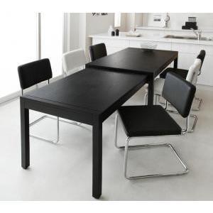 スライド伸縮テーブルダイニング 7点セット テーブルW135|mdmoko