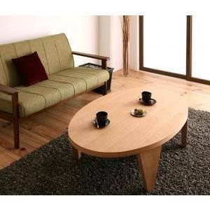 天然木和デザイン円形折りたたみテーブル  だ円形タイプ 幅1|mdmoko