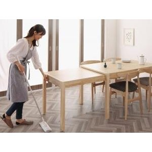 北欧デザイン スライド伸縮テーブル ダイニングセット SOR|mdmoko
