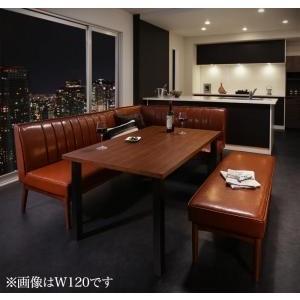 ダイニングテーブル 4点セット(テーブル+ソファ1脚+アームソファ1脚+ベンチ1脚) 右アーム W150|mdmoko