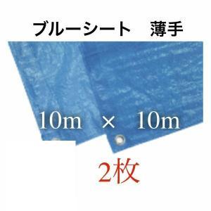 ブルーシート 防水 色 サイズ 10×10|mdmoko