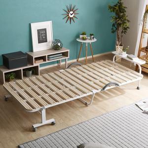 すのこベッド 折りたたみ シングル 二つ折り 布団 折り畳み|mdmoko