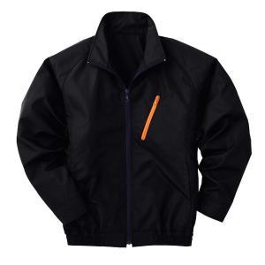 空調服 ポリエステル製長袖ブルゾン P-500BN 〔カラー:ブラック サイズ:XL〕 電池ボックスセット|mdmoko