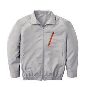 空調服 ポリエステル製長袖ブルゾン P-500BN 〔カラー:シルバー サイズ:LL〕 電池ボックスセット|mdmoko