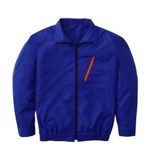 空調服 ポリエステル製長袖ブルゾン P-500BN 〔カラー:ブルー サイズ:M〕電池ボックスセット|mdmoko