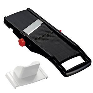 日本製スライサー 切り方3種類(スライス・千切り・ツマ切り)/厚さ調整可 安全ホルダー付き|mdmoko