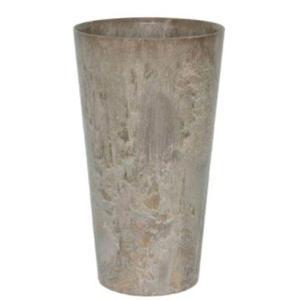 底面給水型 植木鉢/プランター 〔トールラウンド型 ベージュ 直径42cm×高さ90cm〕 底栓付 『アートストーン』 〔園芸用品〕|mdmoko