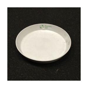 〔4個入〕植木鉢用受皿/プランター用受皿 〔ラウンド型 ホワイト 直径18cm〕 『アートストーン専用』 〔園芸 ガーデニング用品〕|mdmoko