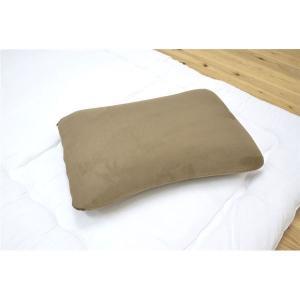 枕 ピロー 洗える 低反発 やわらかい 『マイクロソフト低反発モールド枕』ブラウン 約40×60cm