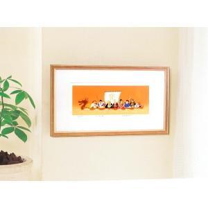 シルク版画/額付き 〔ワイドフレーム〕 吉岡浩太郎 「七福神」 387×645×13mm 化粧箱入り 日本製|mdmoko|03