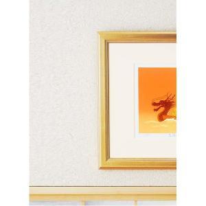 シルク版画/額付き 〔ワイドフレーム〕 吉岡浩太郎 「七福神」 387×645×13mm 化粧箱入り 日本製|mdmoko|04