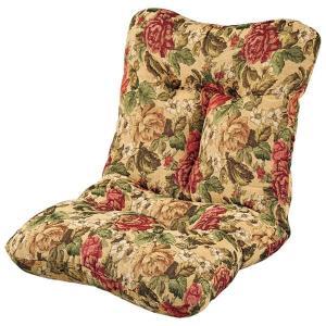 ボリューム 座椅子/フロアソファー 〔同色2脚組 ゴブラン〕 幅70cm 日本製 無段階リクライニング 〔リビング〕 mdmoko