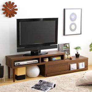 テレビ台 伸縮型 白 収納付き 完成品 ローボード mdmoko